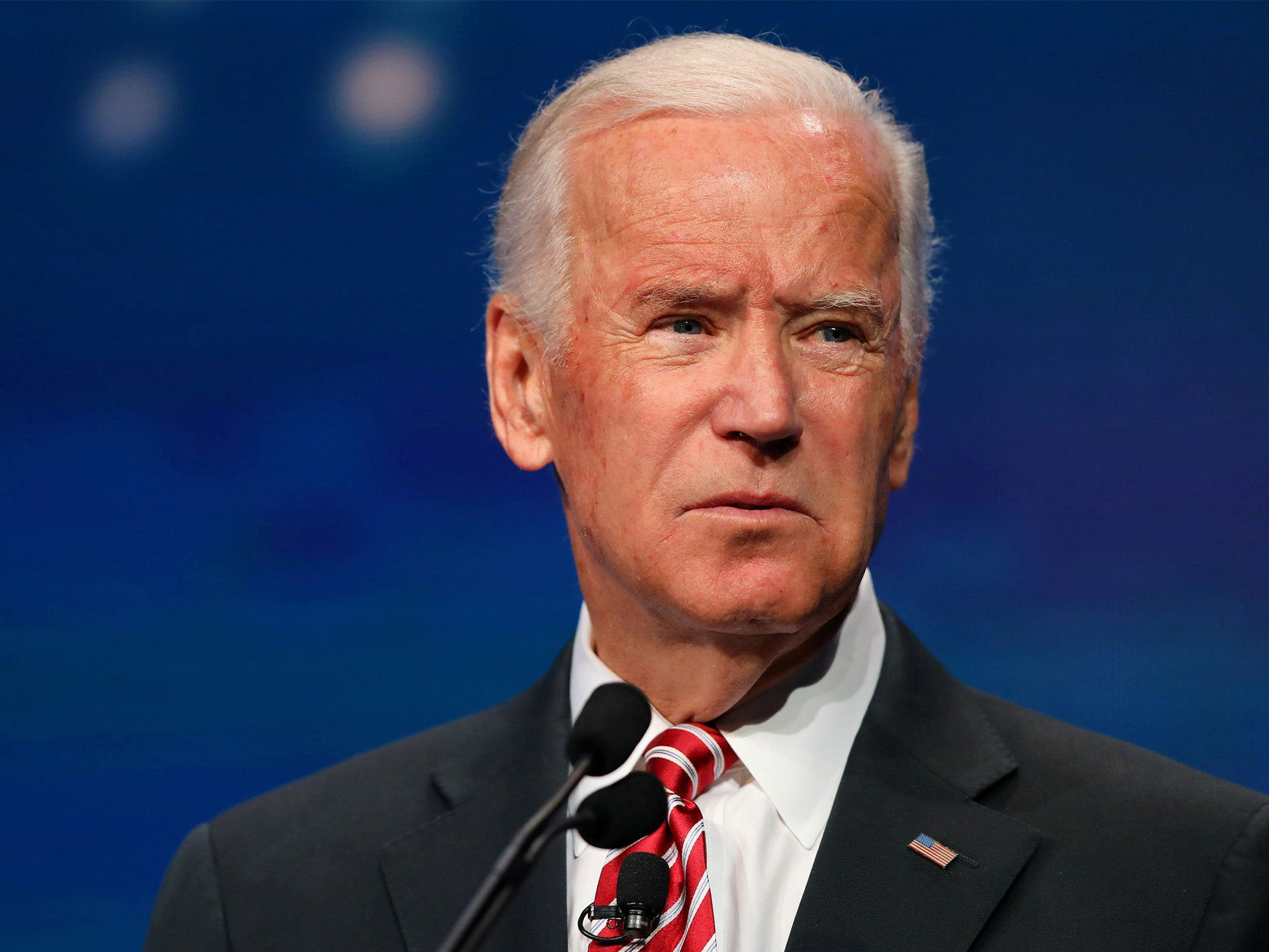 Former Vice President Joe Biden, in his first major foreign policy address as a Democratic presidential candidate, on Thursday blasted U.S. President Donald Trump's performance on the world stage as erratic and extreme.