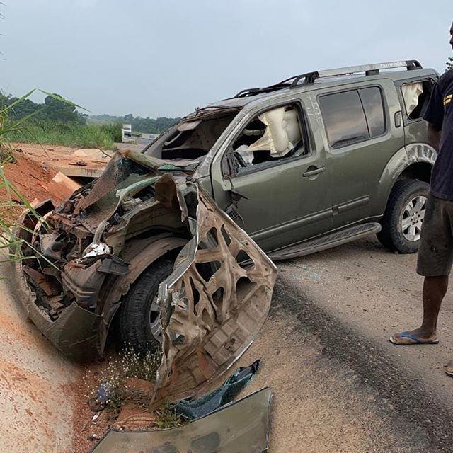 Nollywood actor, Yul Edochie survives auto crash