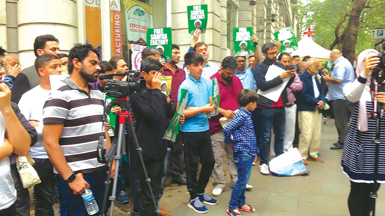 Activists protest in London against El-Zakzaky's detention