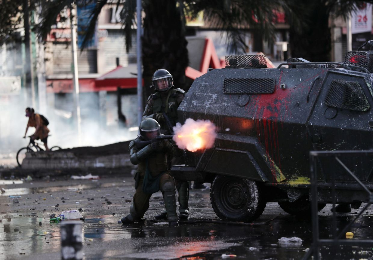 Chile Police Accused Of Using Excessive Force On Protesters