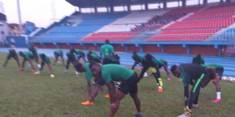 CHAN Qualifier: Eagles Train Behind Closed Doors For Togo