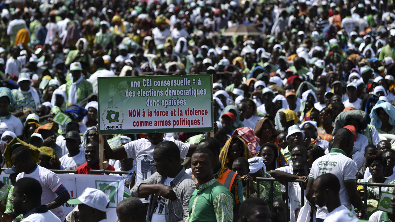 Thousands Of Opposition Supporters Rally In Ivory Coast