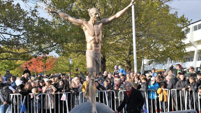 Statue of Iconic Zlatan Ibrahimovic Unveiled In Sweden