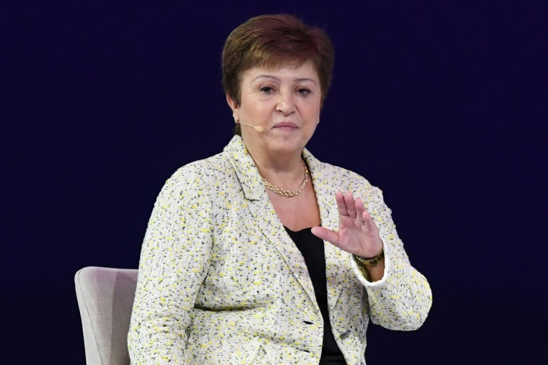 International Monetary Fund managing director Kristalina Georgieva at the Global Women's Forum in Dubai