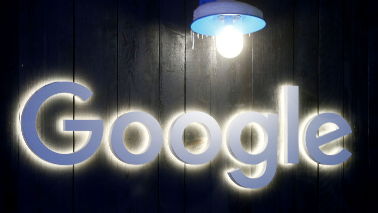 FILE PHOTO: The logo of Google is seen in Davos, Switzerland Januar 20, 2020. Picture taken January 20, 2020. REUTERS/Arnd Wiegmann/File Photo