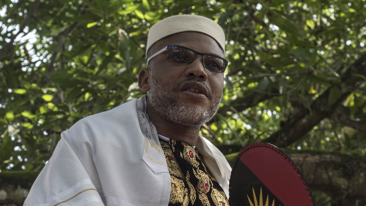 The leader of Indigenous People of Biafra, Mazi Nnamdi Kanu