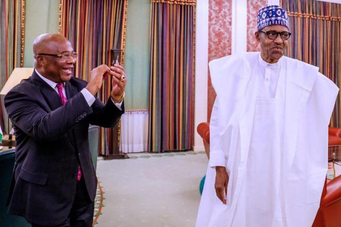 Uzodinma with President Muhammadu Buhari