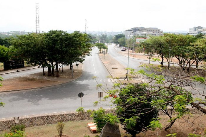 Abuja Roads Empty As Lockdown Bites