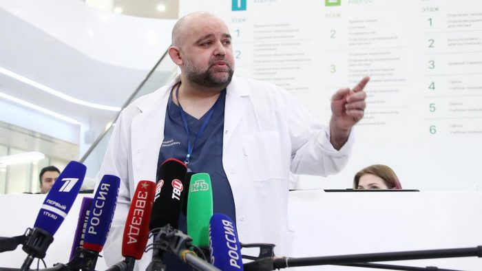 Coronavirus - Russia's Top Doctor Tests Positive