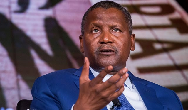 Dangote Loses $2.5bn In One Month - Bloomberg
