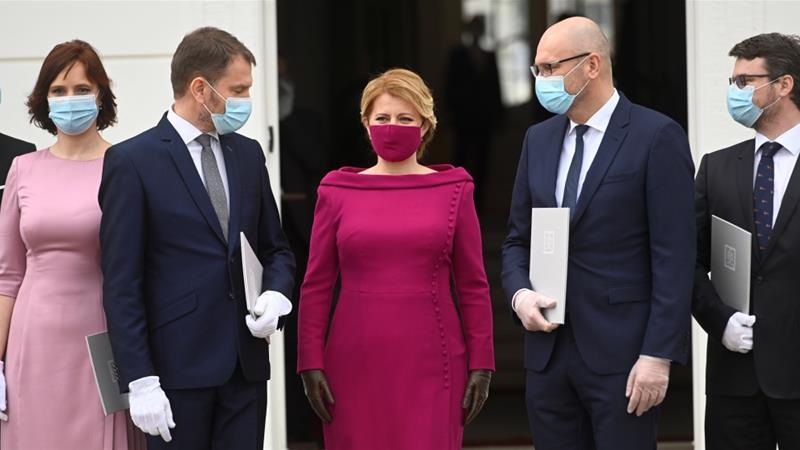 New Slovak Government Sworn In Amid Coronavirus Pandemic