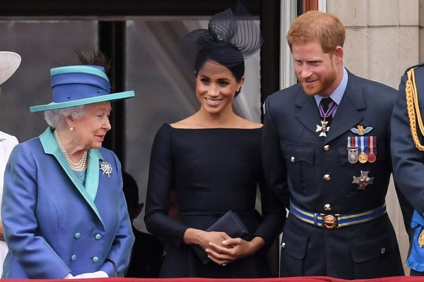 Queen Elizabeth Takes Prince Harry & Meghan To Church