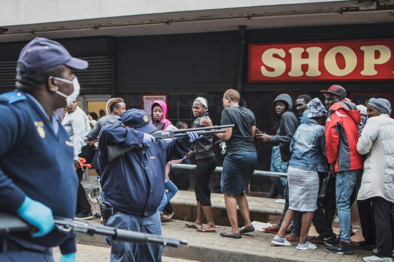 S.African Police Fire Rubber Bullets At Lockdown Defaulters