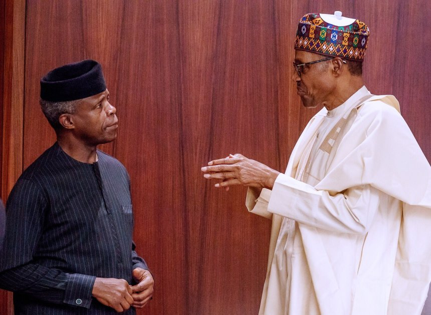 Buhari, Osinbajo Are Earning Half Salaries - Presidency