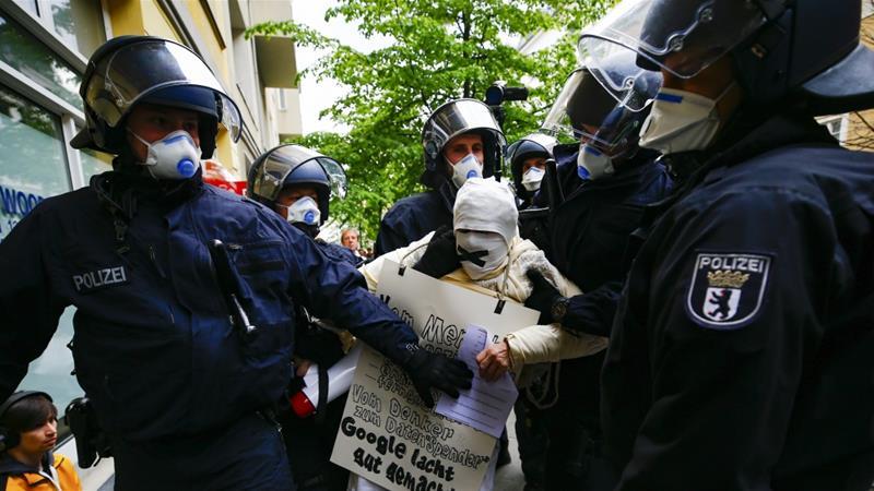 Germany - Dozens Arrested In Anti-Lockdown Protest