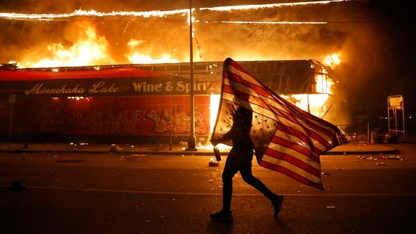 George Floyd - Rioters Burn Down Police Building As Protests Spread