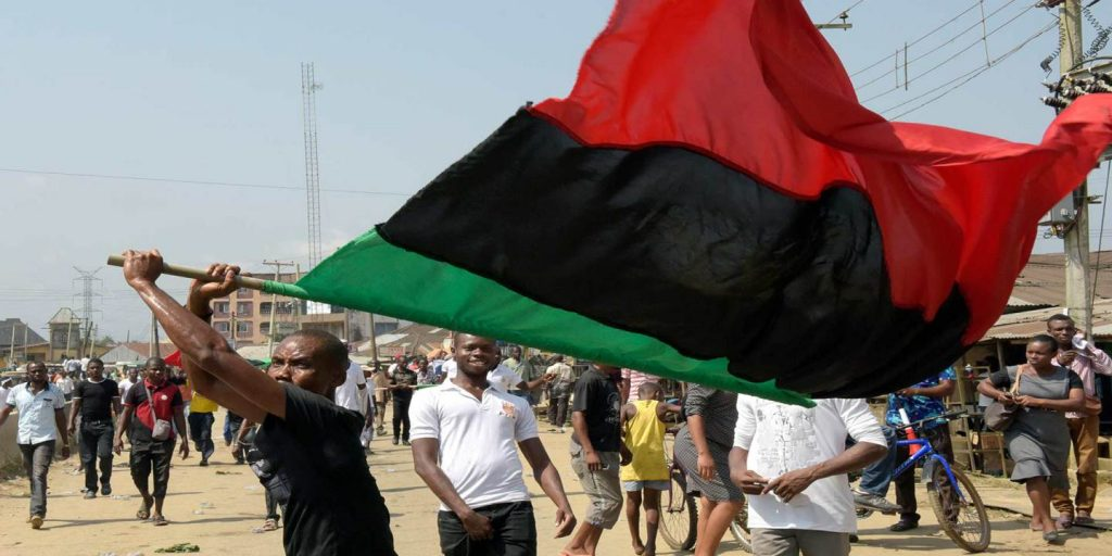 Youths Hoist Biafra Flags In Cross River Border Town