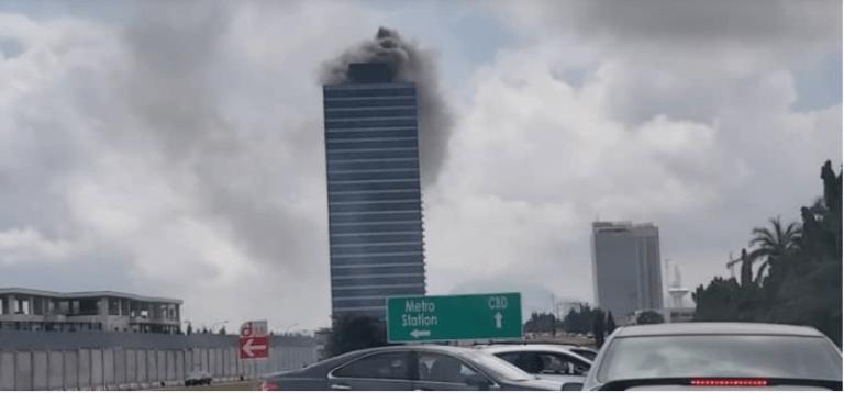 Breaking - Fire Guts World Trade Centre In Abuja