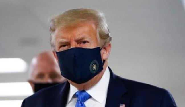 Donald Trump Finally Wears Mask In Public