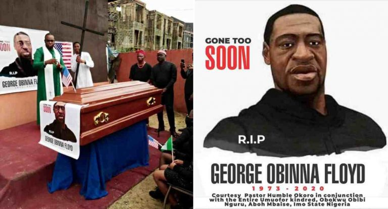 George Floyd Reburied By Mbaise Community In Nigeria