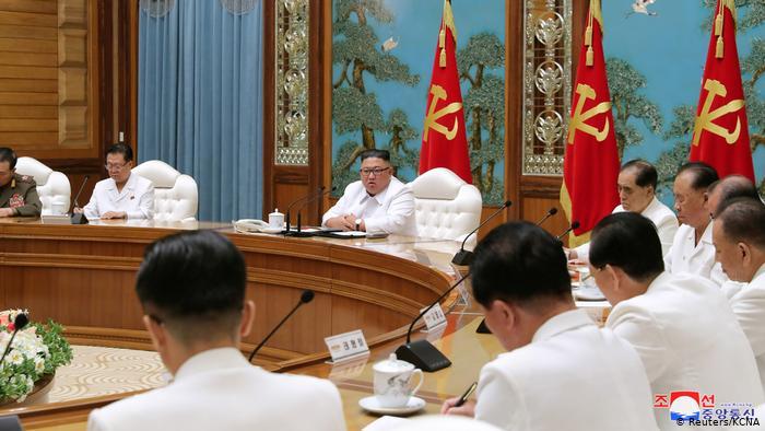 North Korea reports first suspected coronavirus case