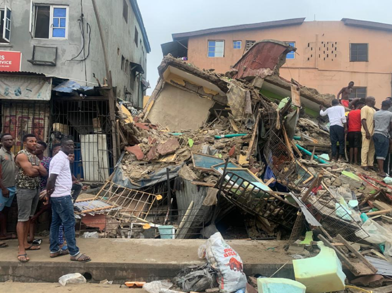 One killed as 3-storey building collapses in Lagos