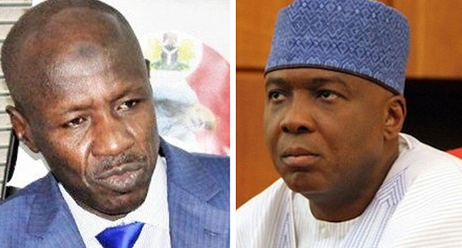 Saraki opens up on why Magu was after him