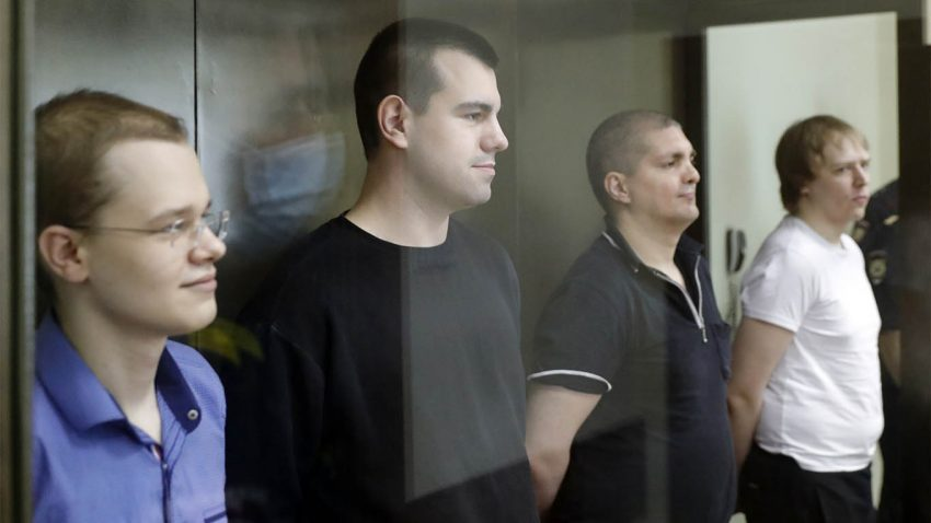 Putin Court jails young Russians for 'plotting to overthrow Putin'