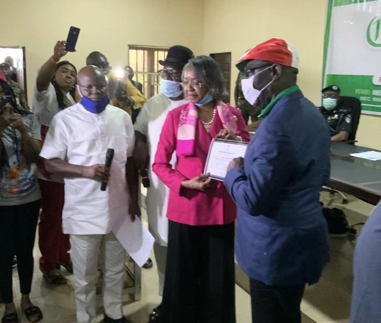 INEC presents Certificates of Return to Obaseki, Shaibu (Photos)