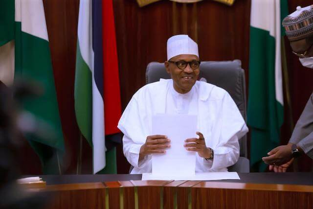 President Buhari Swears In New Permanent Secretaries