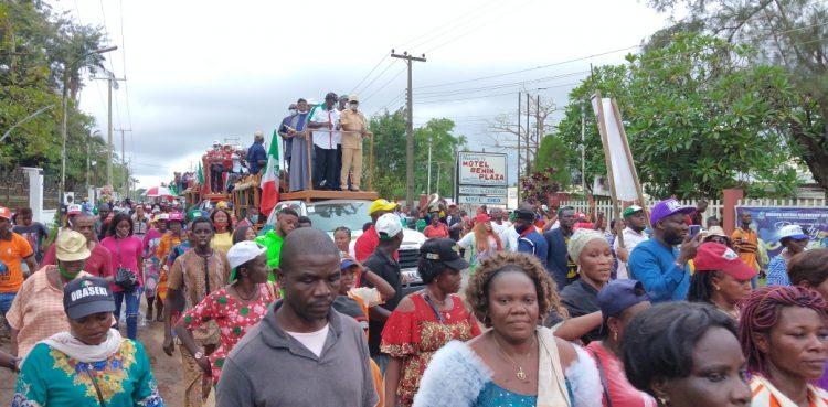 Obaseki leads Edo PDP in triumphant procession in Benin