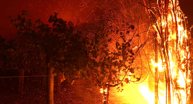 Thousands Flee Homes As Wildfires Rip Through California