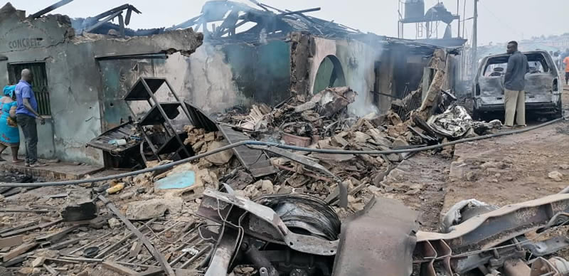 Updated - 30 Injured, 23 Buildings Destroyed In Lagos Tanker Fire