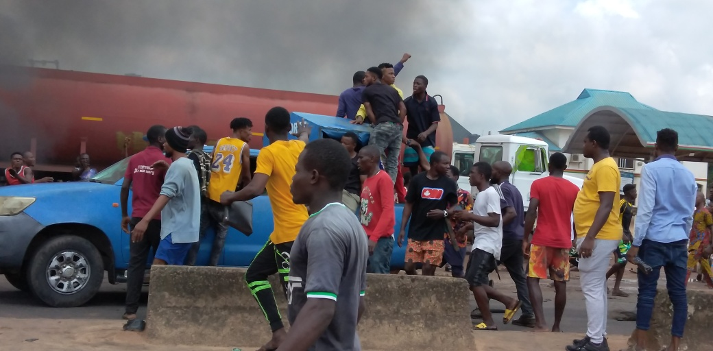 Angry protesters hijack, vandalise Air Force Vehicle in Benin