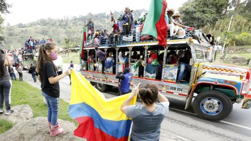 Indigenous Colombians march on Bogotá over killings