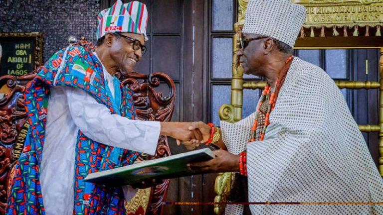 President Buhari Calls Oba Of Lagos On 77th Birthday