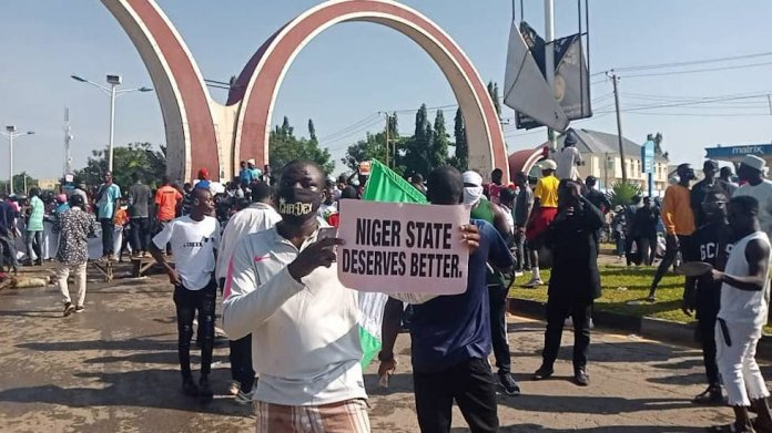 Protest In Minna, Niger State Over Lack Of Social Amenities And Banditry