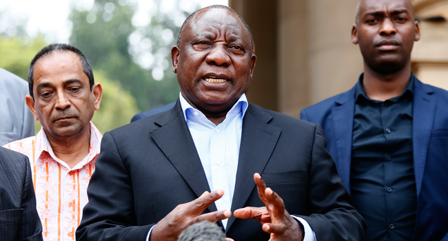 South African President Ramaphosa In Self-Quarantine