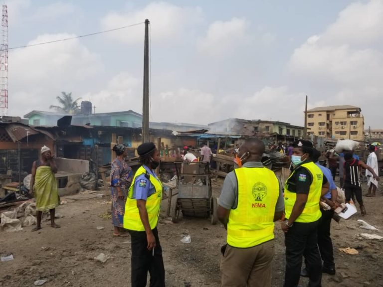 62 Shops, Houses Destroyed In Lagos Market Fire Outbreak