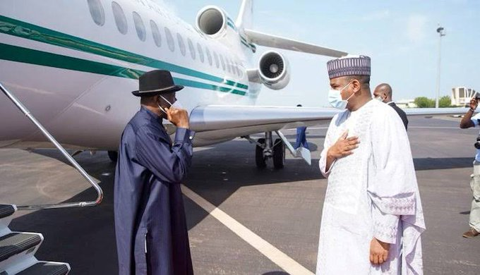 Jonathan Arrives In Bamako For ECOWAS Assignment