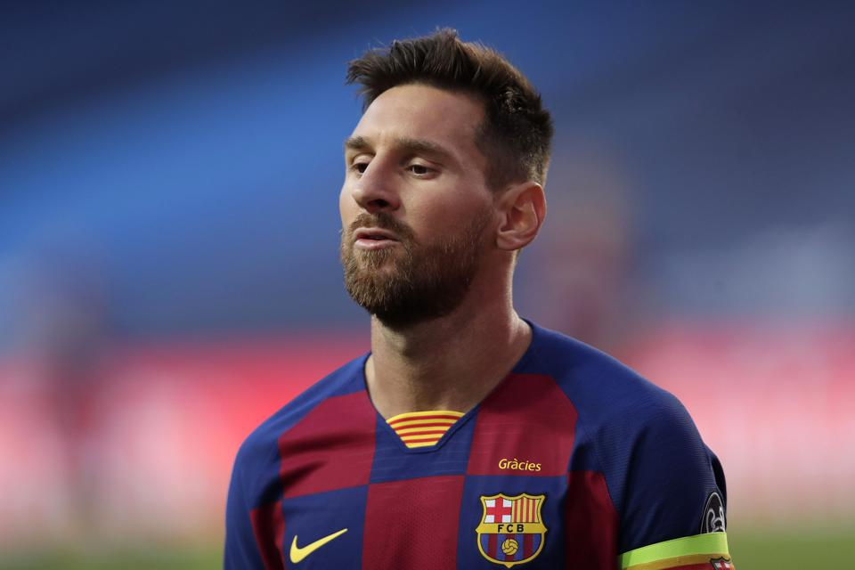 Messi Sent Off For The First Time In Barcelona Career