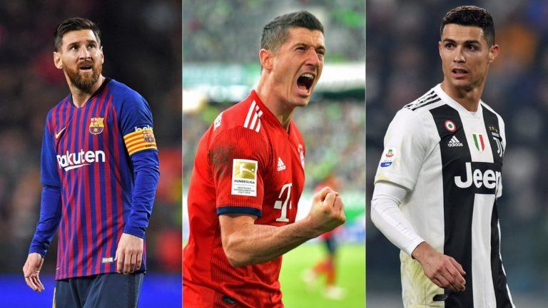 Ronaldo, Messi, Lewandowski Make UEFA Team Of The Year