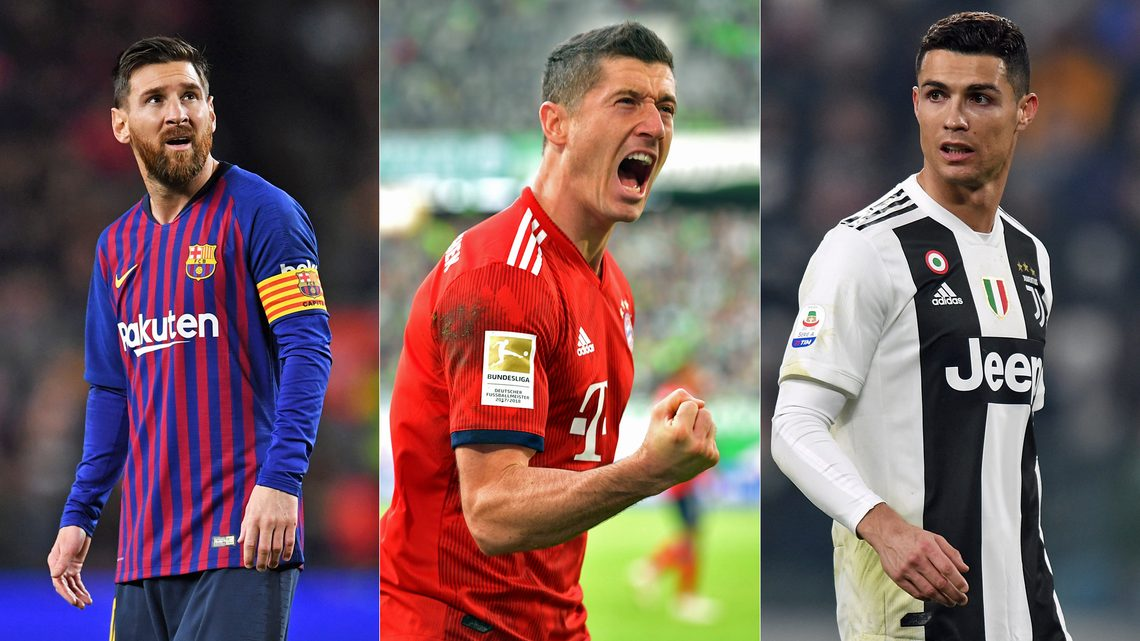 Ronaldo, Messi, Lewandowski Make UEFA Team Of The Year