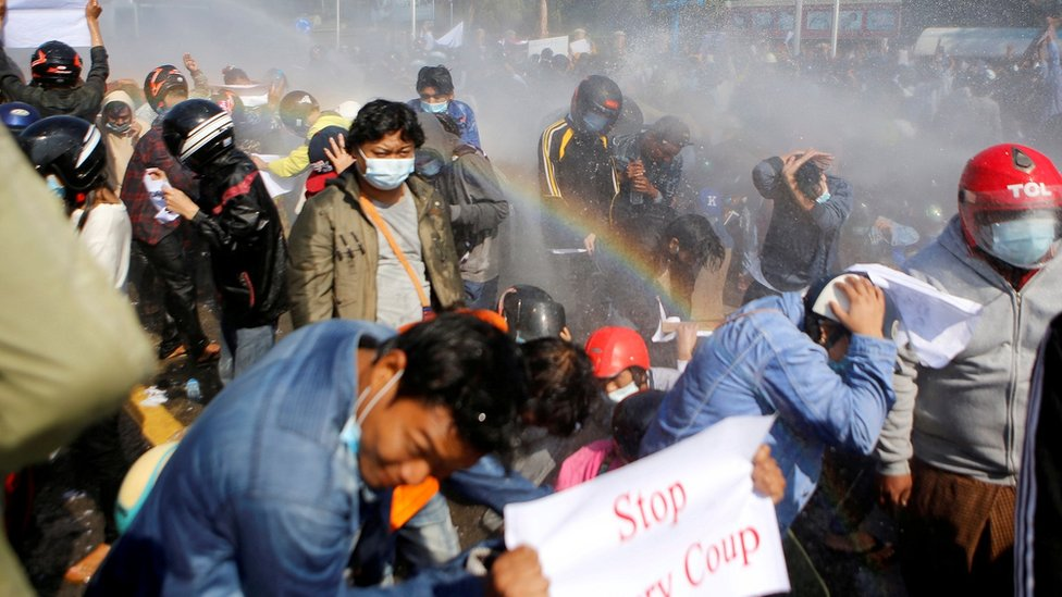 Myanmar Coup Bloody Scenes As Police Open Fire On Protesters