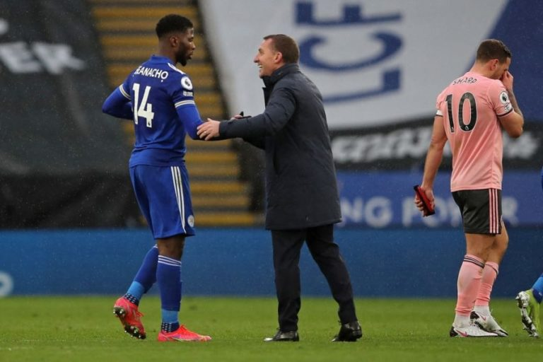Rodgers Full Of Praises For Iheanacho After Hat-Trick Heroics