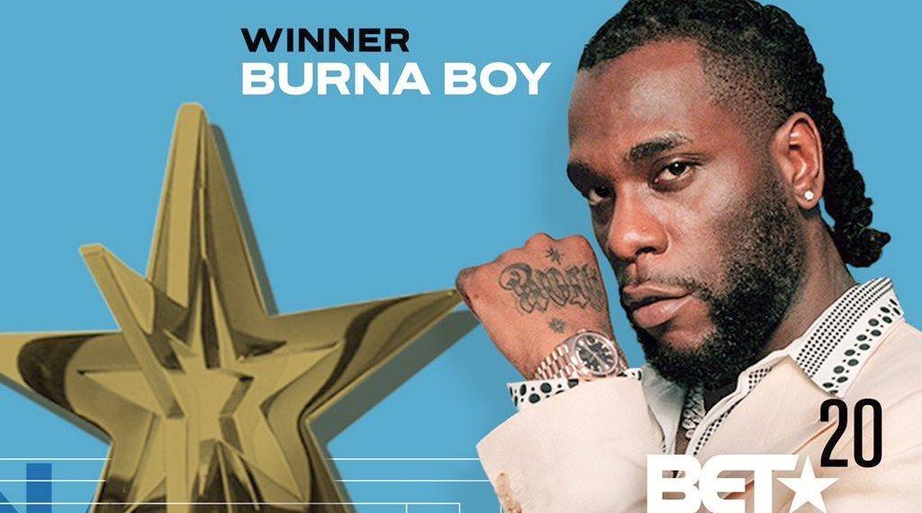 BET Award Burnaboy Wins Best International Act