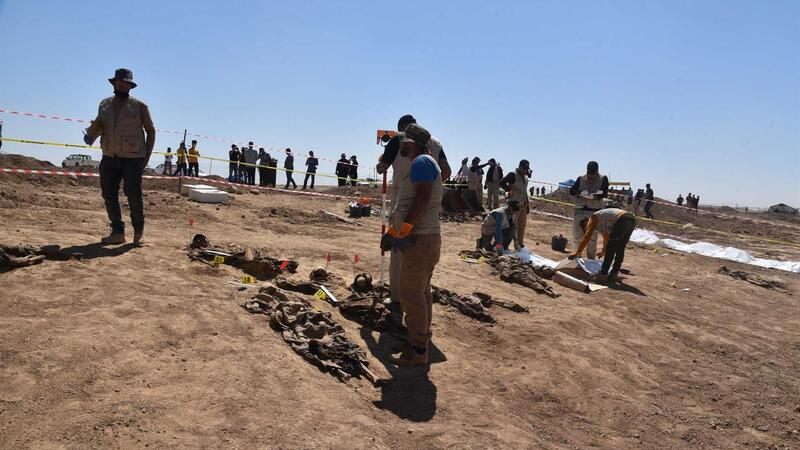 Iraq Opens Mass Grave To Identify Islamic Group Victims