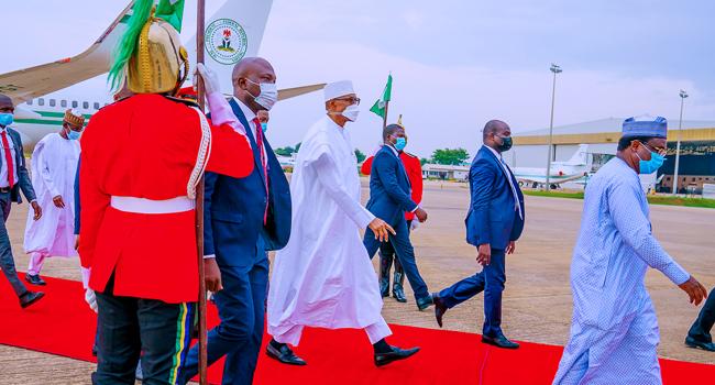 Buhari Returns To Abuja From Daura 8 Days After
