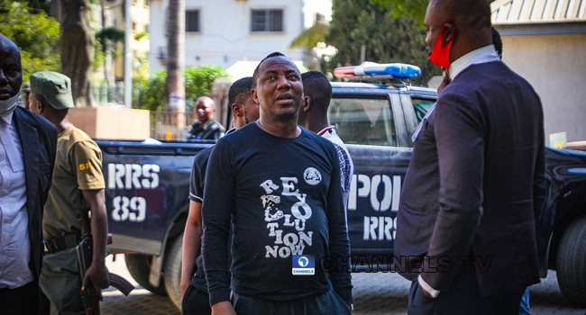 Kanu's Trial Police Arrest Sowore At Abuja Court