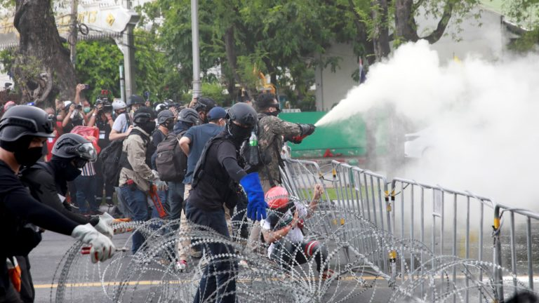 Protesters, Police Clash In Thailand Over PM's Resignation